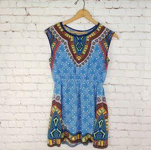 FLYING TOMATO AZTEC PRINT LIGHTWEIGHT DRESS